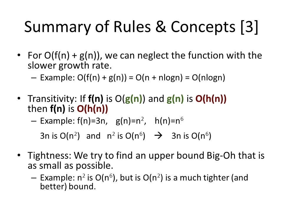 Summary of Rules & Concepts [3]